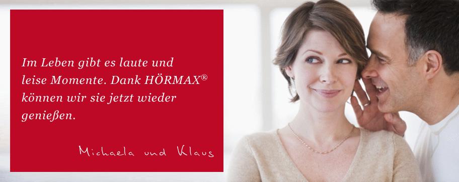 Im Leben gibt es laute und leise Momente. Dank unseres Hörgeräteakustikers HÖRMAX® aus Konstanz können wir sie jetzt wieder genießen.